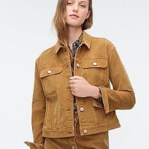 J. Crew garment-dyed corduroy jacket